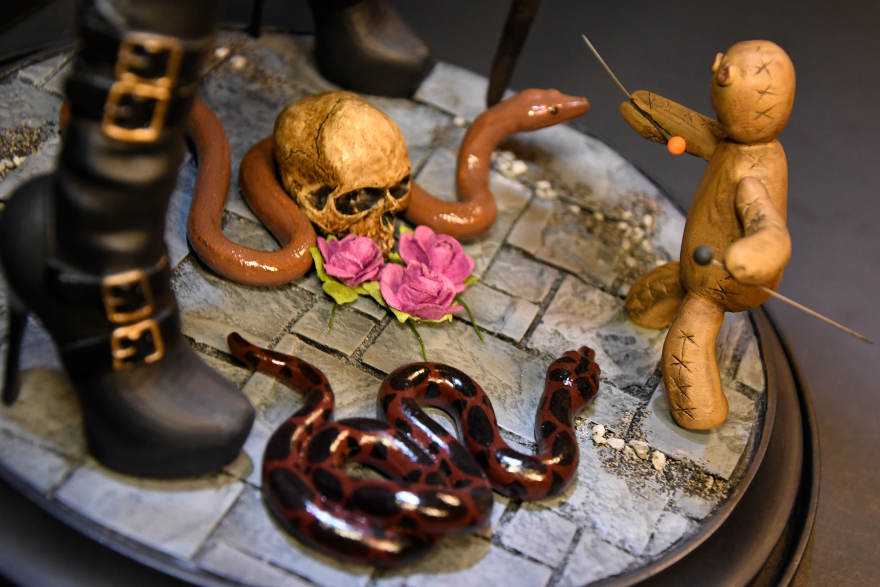 Voodoo Priestess Close Up Floor